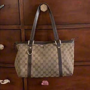 GUCCI Guccissima Brown GG Medium Tote